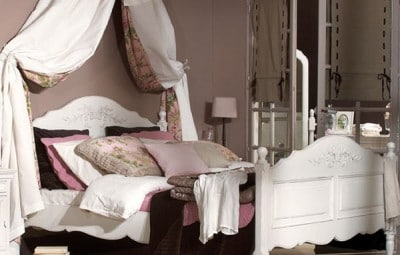 chambre romantique shabby