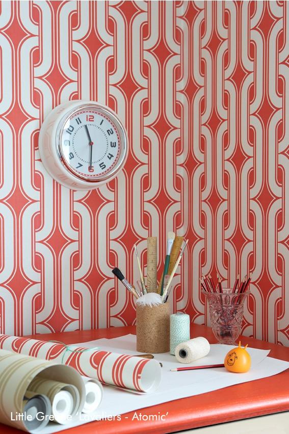 Papier Peint 3d Formes Géométriques : Déco vintage formes géométriques et effets d le papier
