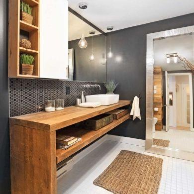 Accessoires de salle de bains pour une d co relaxante for Deco bois pour salle de bain