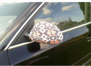 décoration voiture rétroviseurs